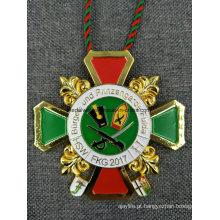 Medalha Quente Alemanha Grande Medalhão Die Casting Esmalte