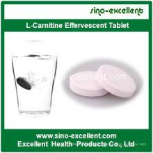 Здоровый продукт Потеря веса L-карнитин Шипучий планшет