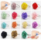 Fashion Colorful Rose Shaped Resin Finger Ring for Promotional Gifts (JZ-2334)