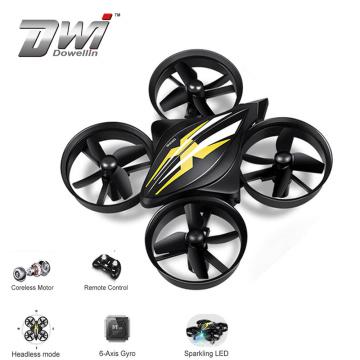 DWI 2.4G Plastic Remote Control Quadcopter Mini Camera Toy Drone With Headless