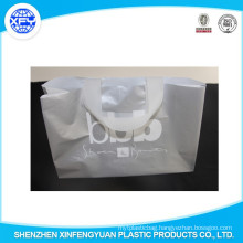 Silver Printing PO Plastic Shopping Bag With Handle
