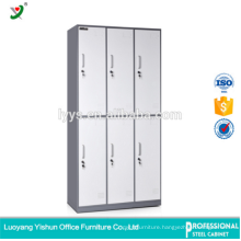 Commercial Steel Furniture Manufacturer 6 Door Stuff Storage Locker for Changing Room