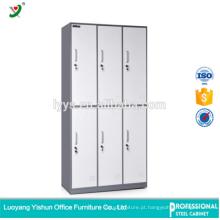 Cacifo de armazenamento de aço comercial do material da porta do fabricante 6 da mobília para o quarto de mudança
