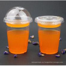 Vasos desechables de plástico para mascotas para el jugo
