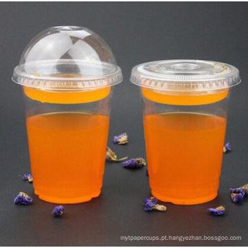 Copos plásticos descartáveis do animal de estimação para o suco