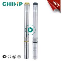 Chimp 100qjd609-0.75 Pompe à eau centrifuge submersible de puits profonde 1 HP