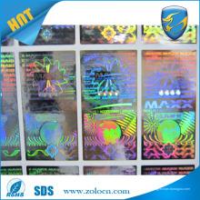 Máquina de impressão de holograma de segunda mão faz uma impressão personalizada barata etiqueta de etiqueta de holograma 3d