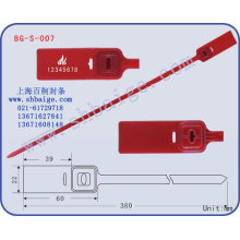 Adjustable plastic seal BG-S-007