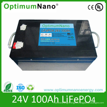 Paquetes de batería recargables de 24V 60ah LiFePO4 para el sistema de energía solar