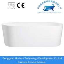 Thin edge freestanding tub