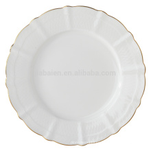 Placas de postre de cerámica de hueso de 8,5 pulgadas