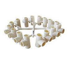 PVC-Fittings 16 Hohlräume TEE