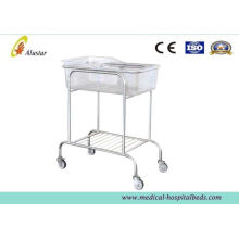 Powder Coated Steel Hospital Baby Beds, Infant Beds With Plastic Basket (als-bb05)