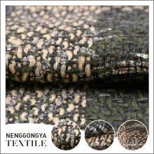 Conception personnalisée Différents types de tissu de tweed de chenille confortable de laine