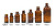 Amber essential oil glass bottle with 18mm neck finish