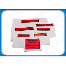 Oil Resistant Polyethylene Self-adhesive Document Enclosed Envelope For Invoices, Cards