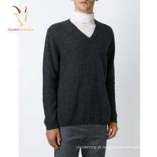 Estilo clássico na moda Deep V Neck Sweaters Men