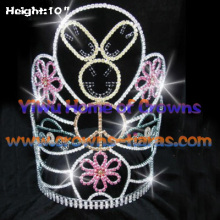 10inch Rabbit Crystal Rhinestone Crowns