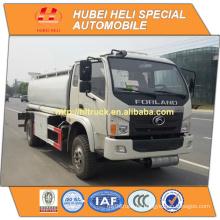 FOTON 4X2 8000L camión cisterna de combustible con bomba de aceite de venta caliente en China