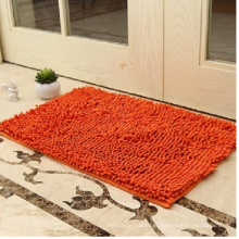 Bochang Microfiber Orange Non-Slip Chenille Carpet
