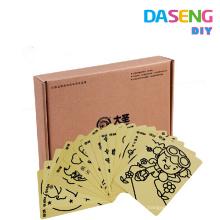 La venta caliente coloreó el paquete de las tarjetas del arte de la arena en la caja de papel