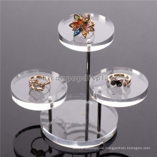 Haltbare Schreibtisch-Oberseiten-Schmucksache-Marken-Speicher-handgemachte Tranparent Acryl-runde Kleinschmucksache-Anzeigen-Tabelle