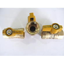 Válvulas de esfera amarela alça bronze gás galos UL CSA
