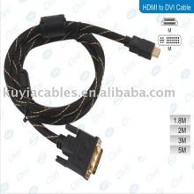 Metallstecker Gold HDMI Stecker auf DVI Kabel für PC HDTV LCD PS3