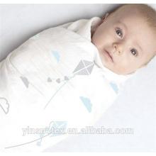 Blanchette en bambou en mousseline de bébé