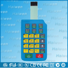 Custom waterproof push button membrane switch with 3M adhesive