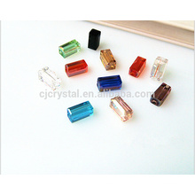 newest glass beads factory,rectangle crystal beads
