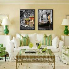 Impression numérique sur toile pleine couleur avec cadre flottant