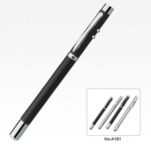 Bolígrafo promocional con luz LED de luz láser puntero de la pluma
