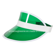 Popular Promotional Plastic PVC Sun Visor Hat