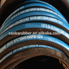 High pressure hydraulic rubber hose/fittings R2AT / 2SN / r2