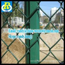 Zuverlässige Produkte aus verzinktem Kettenglied Zaun / verzinktem Eisen Kettenglied Zaun
