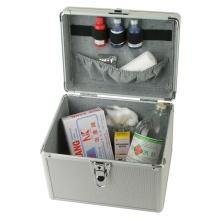 Portable Silber Vanity Container Make up Schönheit Aluminium Kosmetik Fall