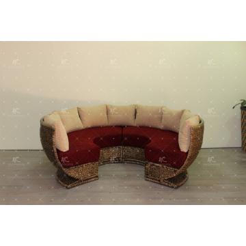 2017 líder elegante conjunto para sala de estar interior natural agua jacinto mimbre muebles