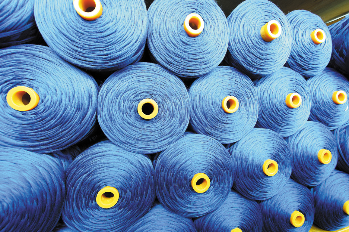 HOT BLUE WOVEN FABRIC