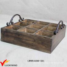 Caisse de vin en bois vintage d'occasion