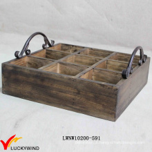 Usado Alike Vintage madeira vinho caixote