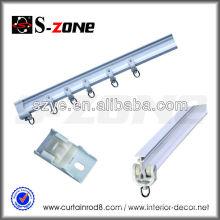 White easy bending sliding flexible PVC roller blind side tracks, industrial rails tracks in cheap