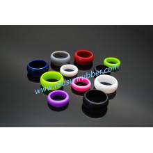 Anel de casamento não-tóxico do dedo do silicone da forma do OEM
