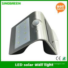 Lámpara de pared solar LED Solar inteligente y sensor LED Luz de pared solar RoHS Ce