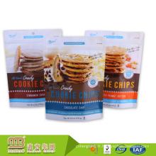 Sacs en plastique rescellables de biscuit en plastique de catégorie comestible d'individu d'alibaba Chine fournisseur pour l'emballage alimentaire