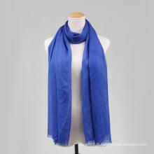 Echarpe longue à viscose bleue pour femmes
