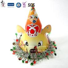 Gorra de cumpleaños de precio barato de fábrica con decoración de estrella