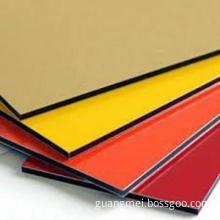 pe pvdf aluminum composite panel