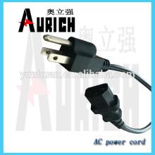 UL de uso geral cabo de alimentação com plugue de powercable 125V