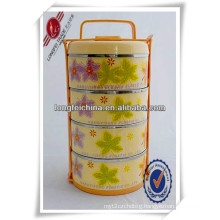 4-Layersplastic Metal Insulated Food Storage Container with Handle